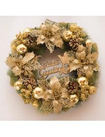 30CM Luxury Golden Christmas Light Door Home Window Wreath Light Home Decor Xmas Gift