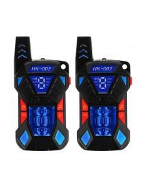 2pcs HK-002 0.5W UHF Auto Multi-Channels Mini Radios Walkie Talkie Built-in Flashlight