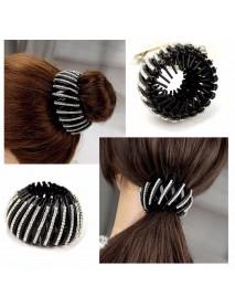 Female Ball Head Clip Buckle Hairpin Nest Hair Ring Plate Catch Clip Hair Accessories