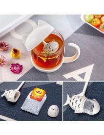 250ML Cat Glass Tea Mug Filter Cup with Fish Tea Infuser Strainer Home Office Drinkware Coffee Milk Mug Creative Birthday Gifts