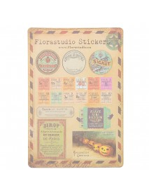 10 Sheet Vintage Paper Stickers DIY Scrapbooking Photo Album Diary Craft Decor