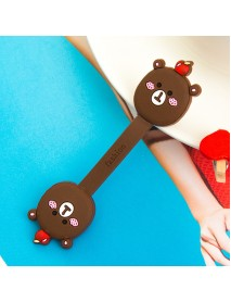 2Pcs Cable Earphome Cord Wrap Cartoon Organizer Holder Silicone Rubber USB Tidy Storage Fastener