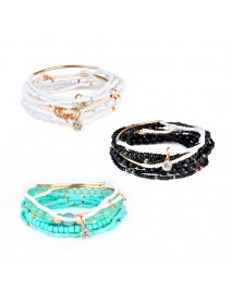 Bohemian Bracelet Rhinestone Beads Multilayer Bracelets for Women