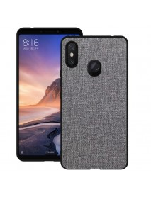 Bakeey Luxury Fabric PC Back + Soft TPU Bumper Protective Case for Xiaomi Mi Max 3