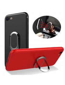 Bakeey 360 Adjustable Metal Ring Kickstand Magnetic Frosted Soft TPU Case for iPhone 6Plus 6sPlus