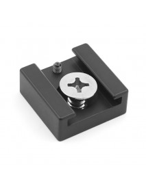 Aluminum Alloy Hot Shoe Mount Adapter with 1/4 Screw