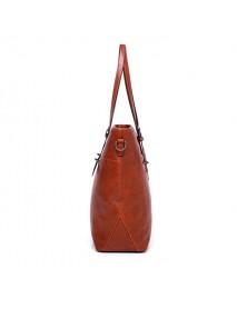 4 PCS Women Faux Leather Handbag Multi-function Crossbody Bag Vintage Tote Bag