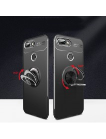 Bakeey Shockproof Thin Back Cover Protective Case with Finger Ring Holder for Xiaomi Mi8 Lite