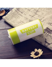 350ML Stainless Steel AA Battery Style Insulation Cup Creative Battery Coffee Vacuum Cup Thermos