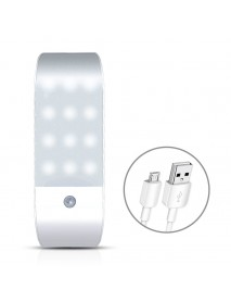 12 LED USB Rechargeable Kitchen PIR Motion Sensor LED Light Bedroom Portable Wireless Wall Lamp Night Light LED Lights For Home