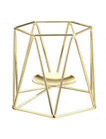 Metal Candle Holders Geometric Hexagon  Candle Holder Wedding Home Decor Tabletop Lantern