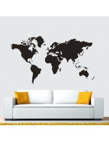 Modern House Removable World Map Wall Sticker Decoration For School Office House Wall  Decor Design