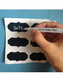 36PCS Chalkboard Stickers Labels Decals Tags Vinyl Kitchen Jar Cup Bottle Decor