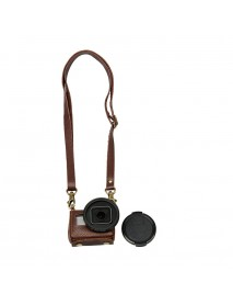 Portable Leather Case Cover Bag for Action Camera Gopro Hero 4 Silver with 40.5mm UV Lens