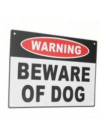 200x300mm Warning Beware of Dog Aluminium Safety Warning Sign House Door Wall Sticker