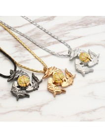 Unisex Fidget Spinner Dragon Necklace Pendant Necklace for Men Women