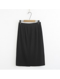 A2 New XL Skirts Fat Mm Age-old Cover Meat Wrinkle Stripes Pleated Skirt 918