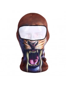 3D Print Balaclava Animal Windproof Sweat Wicking Riding Mask Outdoor Neck Protector Face Mask Cap