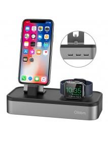 Oittm US Plug 5 Ports Charging Dock Watch Phone Holder For Apple Watch Series 3/2/1/iPhone X/Samsung