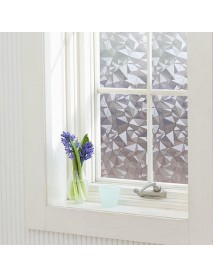 40cmX200cm Modern Flower Pattern Glass Stickers Bathroom Balcony Sliding Door Frosted Glass 3D Stick