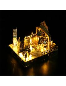 3D DIY Assembled Model Amusement Park Carousel Ferris Wheel Roller Coaster Puzzle Educational Toy model Building