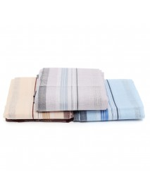 12Pcs Cotton Men Pocket Handkerchief Square Hanky For Wedding Party