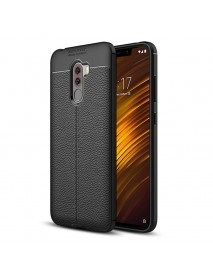 Bakeey Litchi Pattern Shockproof Soft TPU Back Cover Protective Case for Xiaomi Pocophone F1