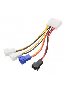 10cm Large 4 Pin IDE to 5V 12V 3 Pin CPU Cooling Fan Power Adapter Cable for Water Pump