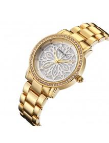 CRRJU 2109 Diamonds Dial Case Women Wrist Watch Stainless Steel Quartz Watches