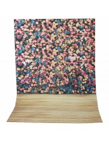 1.5x2.1m 5x7FT Beautiful Flower Wall Studio Vinyl Photography Backdrop Background