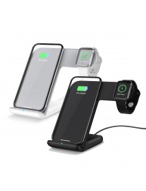 10W Qi Phone Docks Wireless Fast Charger Charging Station Dock Stand for Samsung S8 S9 for iPhone