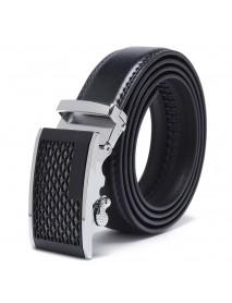 120CM 125CM Mens Business Two-Layer Leather Alloy Automatic Buckle Belt Fashion Waist Belts