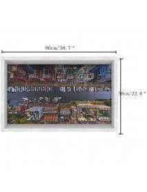 PAG 3D Anti Slip Bathroom City Street Pattern Waterproof Floor Sticker Washable Shower Kitchen Decor