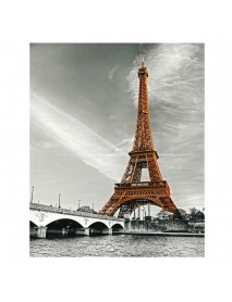 1 Piece Eiffel Tower Wall Decorative Painting Canvas Print Art Pictures Frameless Wall Hanging Decorations for Home Office