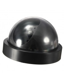 BQ-01 Dome Fake Outdoor Camera Dummy Simulation Security Surveillance Camera Red LED Blinking Light