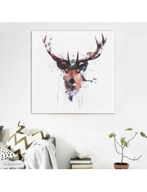 16'' Abstract Stag Deer Canvas Picture Printed Paintings Dcor Framed / Unframed
