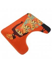 3 Piece Set Bathroom Carpet Toilet Mat And Seat Cover Toiletseat Nemo Bath Rug Non Slip