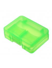 3pcs Green Backpacker GK-1CF4SD Portable Memory Card Receiving Box Mobile TF Card Camera CF/SD Storage Card Box