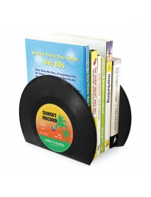 2pcs CD Tpye Bookends Desk Book Organizer School Shelves Books Holder Stand
