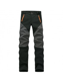 Men's Waterproof Windproof Fleece Ski Trousers Fluorescent Mountaineering Hardwear Anti-UV Pants