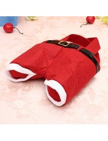 5/10 Christmas Santa Pants Candy Gift Bag Sweet Sack Holder Stocking Filler