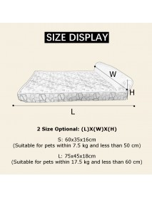 2 Size Pet Bed Dog Cat Puppy Sleeping Manual Massage Cushion Pads Home Kennels Mat