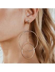 Trendy Hollow Hoop Earring Fashion Minimalism Long Earring Drop Sweet Jewerly For Women