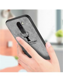 Bakeey Deer Pattern Shockproof Cloth + Soft TPU Back Cover Protective Case for Xiaomi Pocophone F1