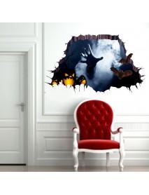 Halloween 3D Floor Sticker Bedroom Living Room Haunted House Decor Wall Stickers Ghost Hand Through
