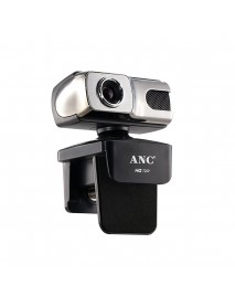 Aoni ANC HD 720P Webcam CMOS 30FPS 10 Million Pixels USB 2.0 HD USB Drive-free Camera Video Call Webcam with Microphone for Computer Notebook PC