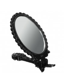 Foldable Mini Makeup Mirror Cosmetic Black Pocket Girl