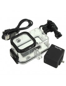 Backpack External Battery Waterproof Housing Case Set For Gopro Hero 4 Session