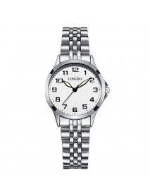 LONGBO 80499 Luxury Men Women Stainless Steel Strap Simple Casual Dial Couple Watch Quartz Watch