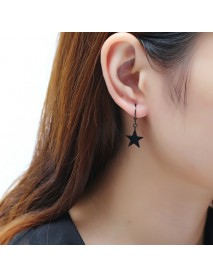 1Pc Titanium Steel Simple Style Star Pendant Ear Stud Fashion Earrings for Men